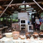 Чудо-печь для приготування бощику у глиняному горщику в Опішному